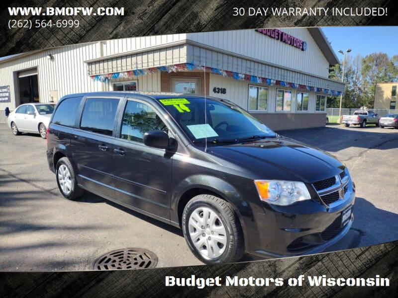 2014 Dodge Grand Caravan for sale at Budget Motors of Wisconsin in Racine WI