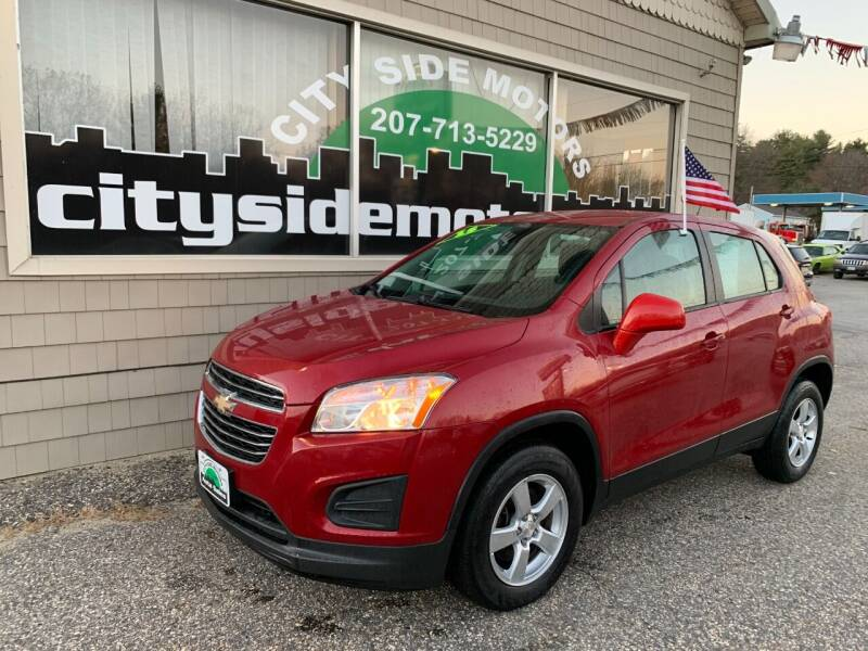 2015 Chevrolet Trax for sale at CITY SIDE MOTORS in Auburn ME