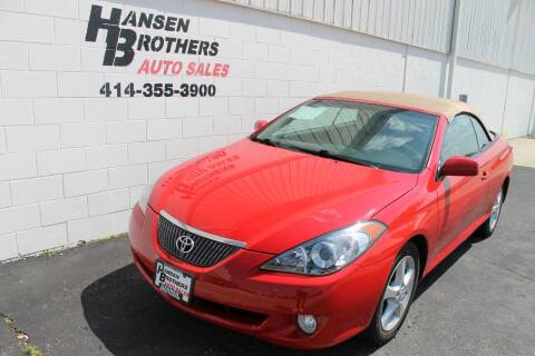 2006 Toyota Camry Solara for sale at HANSEN BROTHERS AUTO SALES in Milwaukee WI