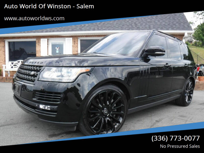2015 Land Rover Range Rover for sale at Auto World Of Winston - Salem in Winston Salem NC