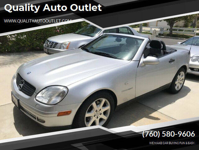 1999 Mercedes-Benz SLK for sale at Quality Auto Outlet in Vista CA