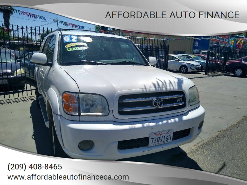 2002 Toyota Sequoia for sale at Affordable Auto Finance in Modesto CA