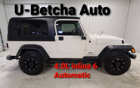 2004 Jeep Wrangler for sale at Ubetcha Auto in St. Paul NE