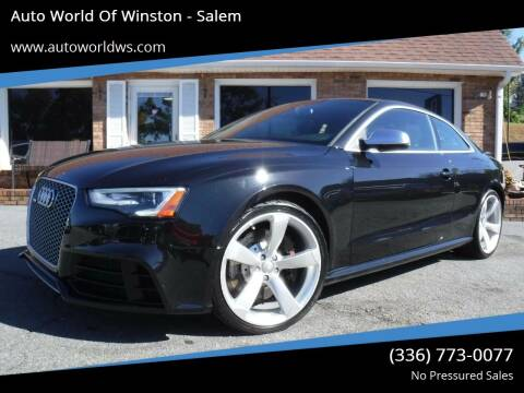 2014 Audi RS 5 for sale at Auto World Of Winston - Salem in Winston Salem NC