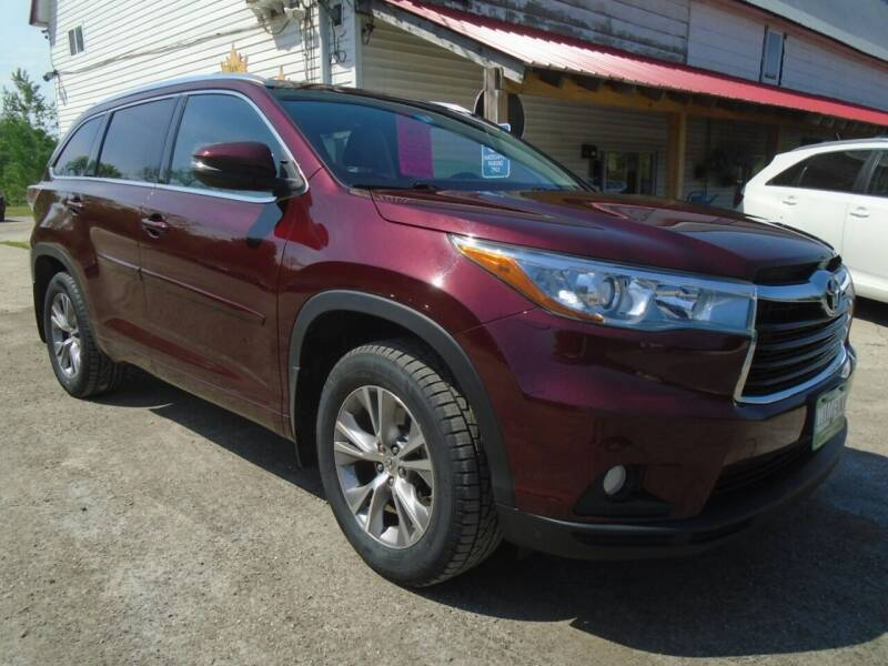 2015 Toyota Highlander for sale at Wimett Trading Company in Leicester VT