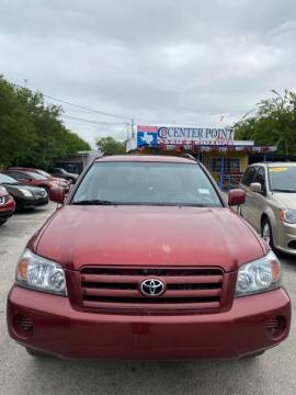 2004 Toyota Highlander for sale at Centerpoint Motor Cars in San Antonio TX
