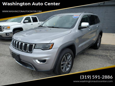 2017 Jeep Grand Cherokee for sale at Washington Auto Center in Washington IA