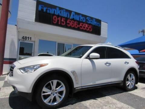 2013 Infiniti FX37 for sale at Franklin Auto Sales in El Paso TX