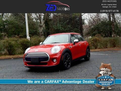 2015 MINI Hardtop 4 Door for sale at Zed Motors in Raleigh NC