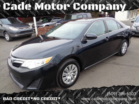 2013 Toyota Camry for sale at Cade Motor Company in Lawrenceville NJ