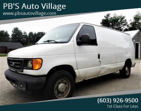 2005 Ford E-Series Cargo for sale at PB'S Auto Village in Hampton Falls NH
