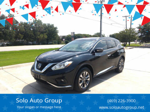 2015 Nissan Murano for sale at Solo Auto Group in Mckinney TX