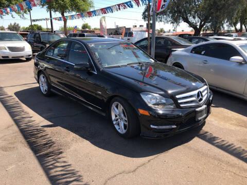 2012 Mercedes-Benz C-Class for sale at Valley Auto Center in Phoenix AZ