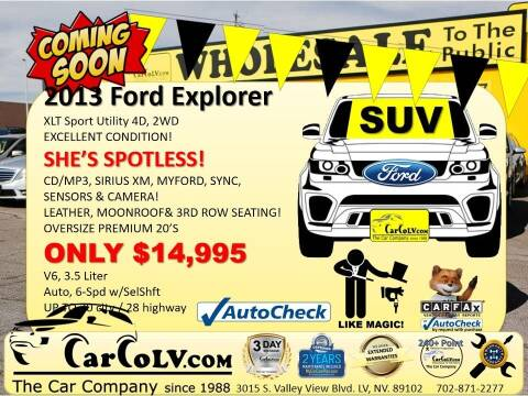 2013 Ford Explorer for sale at The Car Company in Las Vegas NV