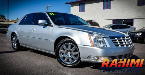 2011 Cadillac DTS for sale at Rahimi Automotive Group in Yuma AZ
