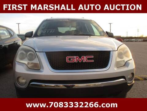 2009 GMC Acadia for sale at First Marshall Auto Auction in Harvey IL