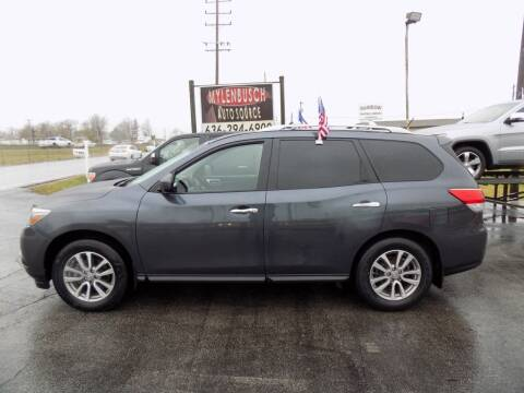2014 Nissan Pathfinder for sale at MYLENBUSCH AUTO SOURCE in O` Fallon MO