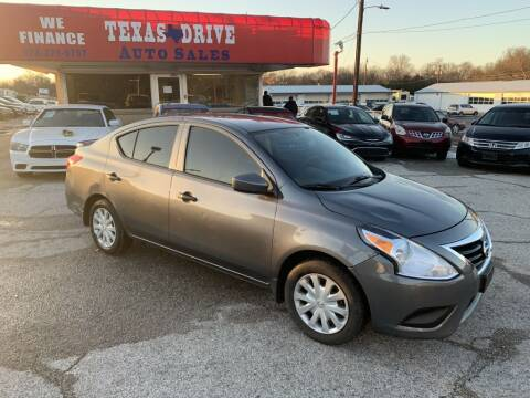2016 Nissan Versa for sale at Texas Drive LLC in Garland TX