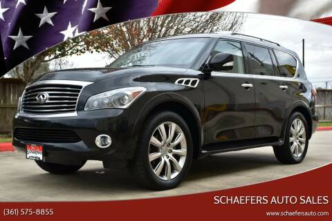 2012 Infiniti QX56 for sale at Schaefers Auto Sales in Victoria TX