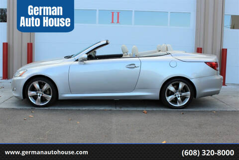 2010 Lexus IS 250C for sale at German Auto House in Fitchburg WI
