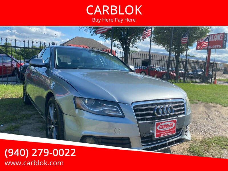 2010 Audi A4 for sale at CARBLOK in Lewisville TX