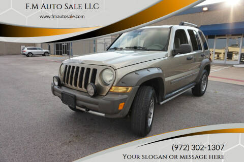 2005 Jeep Liberty for sale at F.M Auto Sale LLC in Dallas TX