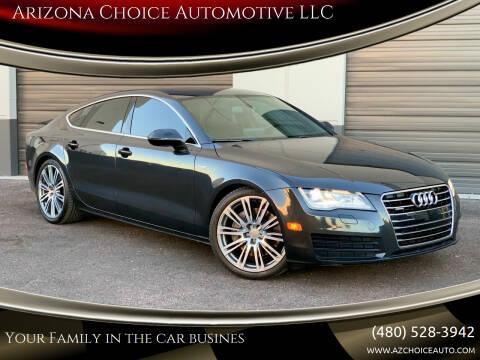 2012 Audi A7 for sale at Arizona Choice Automotive LLC in Mesa AZ
