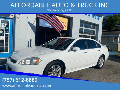 2013 Chevrolet Impala for sale at AFFORDABLE AUTO & TRUCK INC in Virginia Beach VA