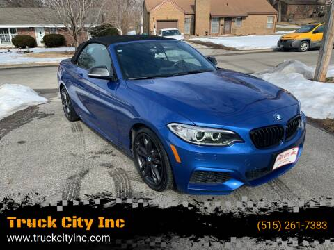 2017 BMW 2 Series for sale at Truck City Inc in Des Moines IA