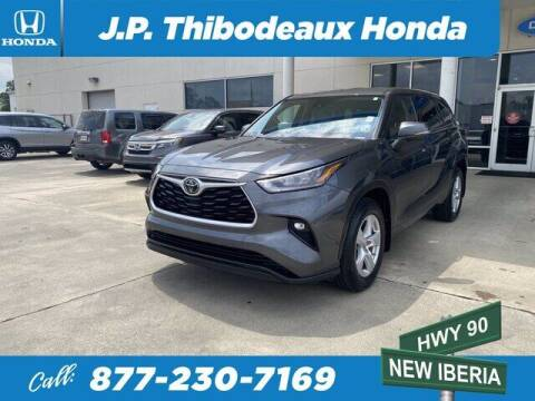 2020 Toyota Highlander for sale at J P Thibodeaux Used Cars in New Iberia LA
