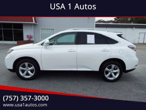 2011 Lexus RX 350 for sale at USA 1 Autos in Smithfield VA