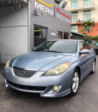 2005 Toyota Camry Solara for sale at Meru Motors in Hollywood FL