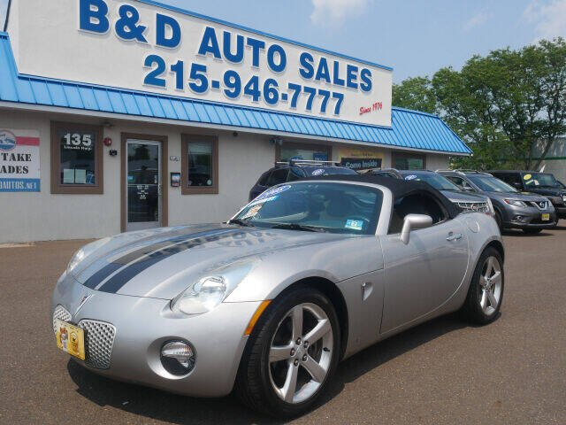 2006 Pontiac Solstice for sale at B & D Auto Sales Inc. in Fairless Hills PA