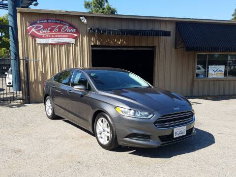 2016 Ford Fusion for sale at Rent To Own Auto Showroom LLC - Finance Inventory in Modesto CA