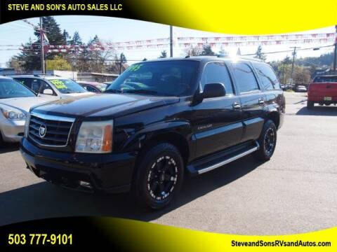 2003 Cadillac Escalade for sale at Steve & Sons Auto Sales in Happy Valley OR