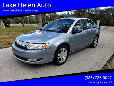 2003 Saturn Ion for sale at Lake Helen Auto in Lake Helen FL