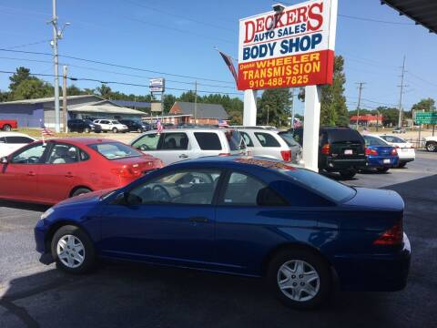 2005 Honda Civic for sale at Deckers Auto Sales Inc in Fayetteville NC