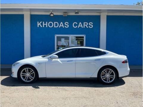 2012 Tesla Model S for sale at Khodas Cars in Gilroy CA