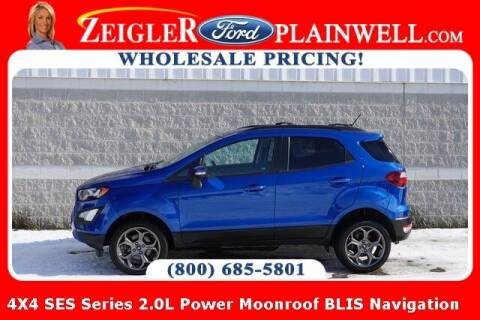 2018 Ford EcoSport for sale at Zeigler Ford of Plainwell- Jeff Bishop in Plainwell MI