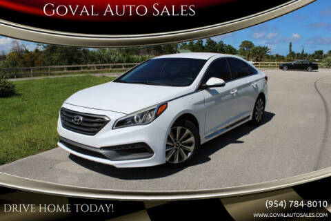 2015 Hyundai Sonata for sale at Goval Auto Sales in Pompano Beach FL