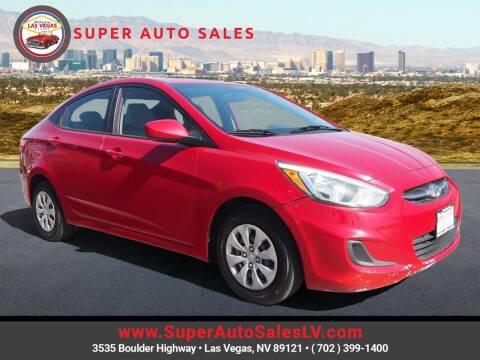 2015 Hyundai Accent for sale at Super Auto Sales in Las Vegas NV