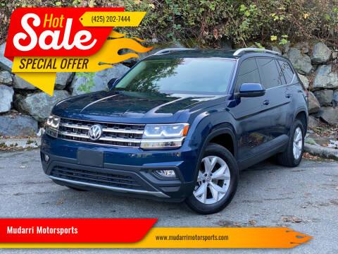 2019 Volkswagen Atlas for sale at Mudarri Motorsports in Kirkland WA