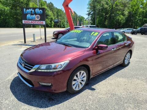 2013 Honda Accord for sale at Let's Go Auto in Florence SC