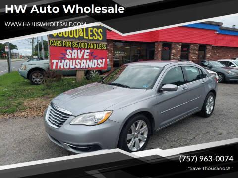 2013 Chrysler 200 for sale at HW Auto Wholesale in Norfolk VA