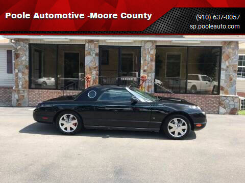 2002 Ford Thunderbird for sale at Poole Automotive in Laurinburg NC