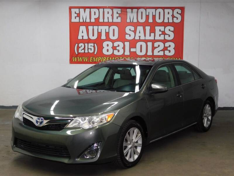 2014 Toyota Camry Hybrid for sale at EMPIRE MOTORS AUTO SALES in Philadelphia PA
