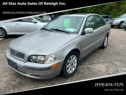 2003 Volvo S40 for sale at All Star Auto Sales of Raleigh Inc. in Raleigh NC