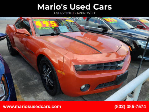 2010 Chevrolet Camaro for sale at Mario's Used Cars - South Houston Location in South Houston TX