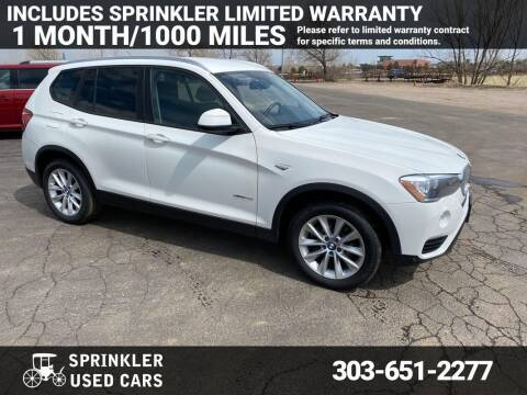 2017 BMW X3 for sale at Sprinkler Used Cars in Longmont CO