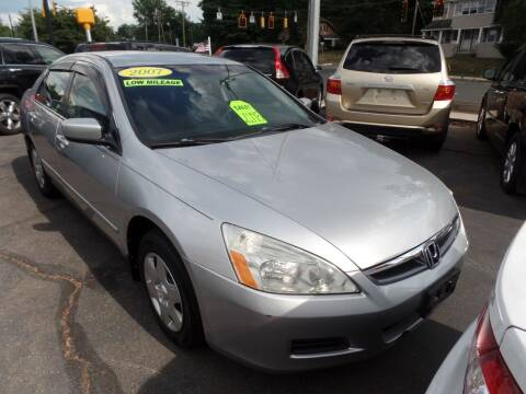 2007 Honda Accord for sale at CAR CORNER RETAIL SALES in Manchester CT